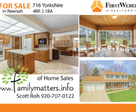 716 Yorkshire Rd, Neenah, WI, 54956 – Neenah Home for Sale